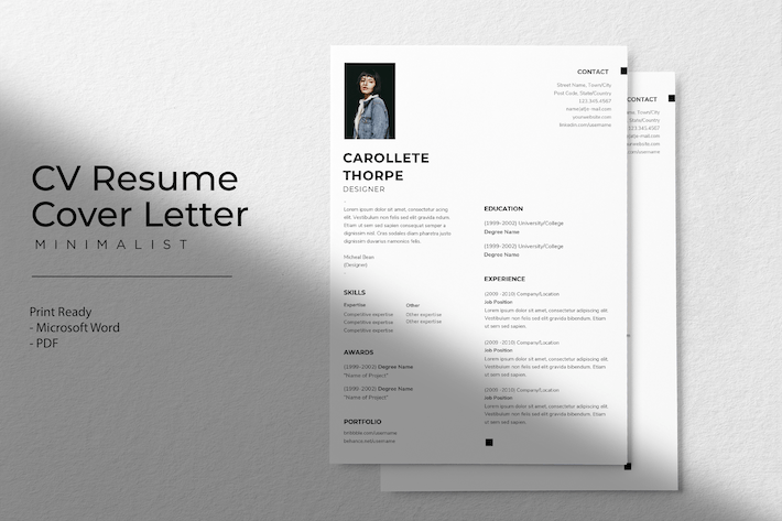 Thumbnail for Collette Thorpe - CV Resume Template