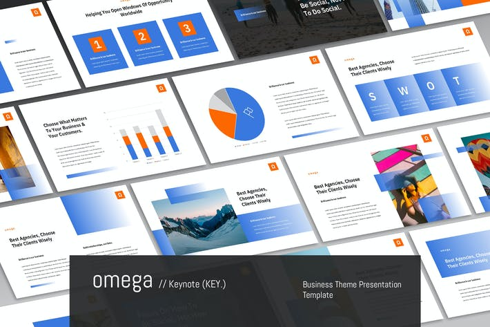 Thumbnail for Omega - Corporate Theme Keynote Template