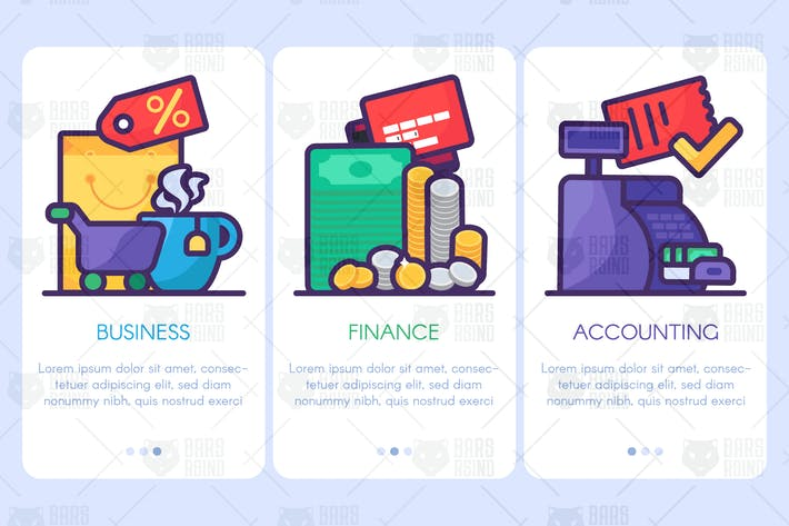 Thumbnail for Business, Finance, Accounting Web Banners Set