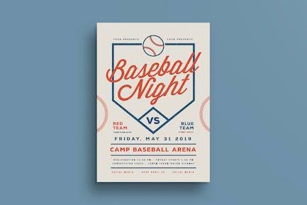 Baseball Night Flyer