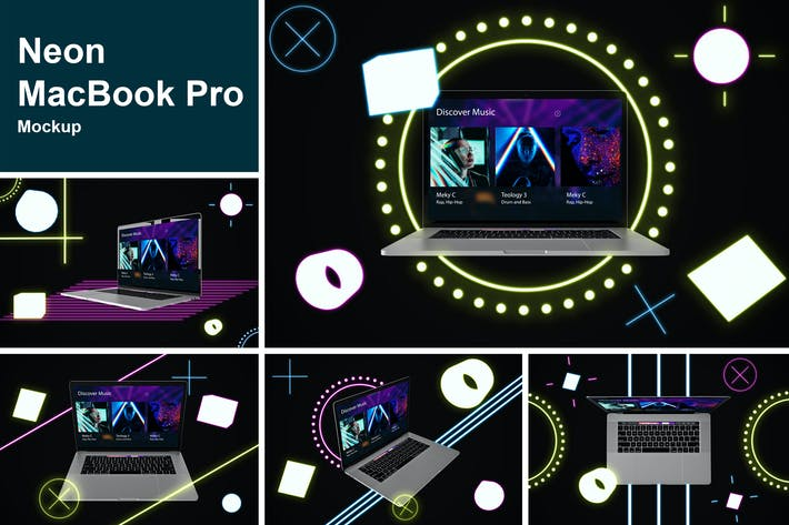 Thumbnail for Neon MacBook Pro