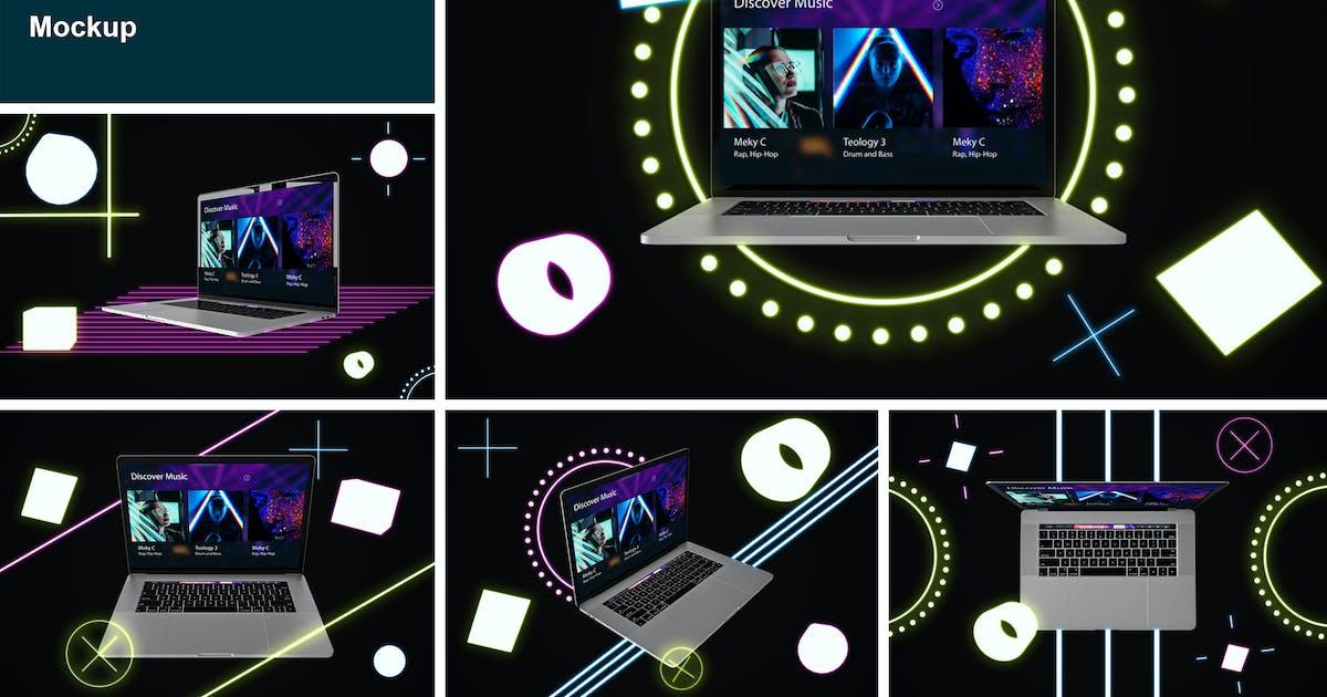 Download Neon MacBook Pro by QalebStudio