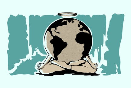 Heile die Welt-Vektor Illustration