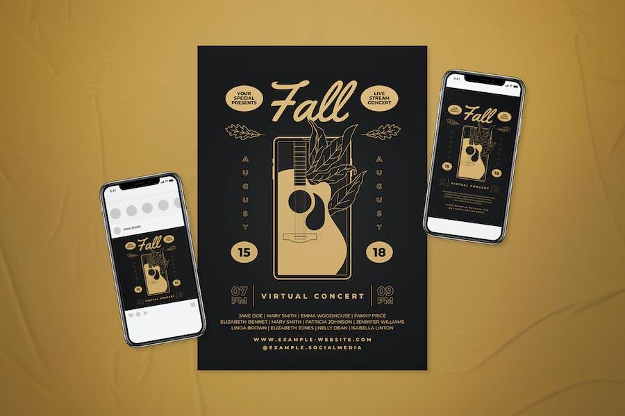 Fall Virtual Concert Flyer Set