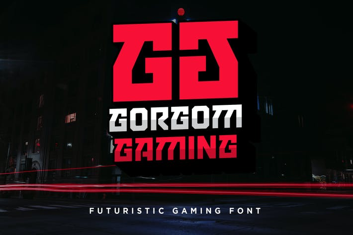 Thumbnail for Gorgom - Futuristic Gaming Font