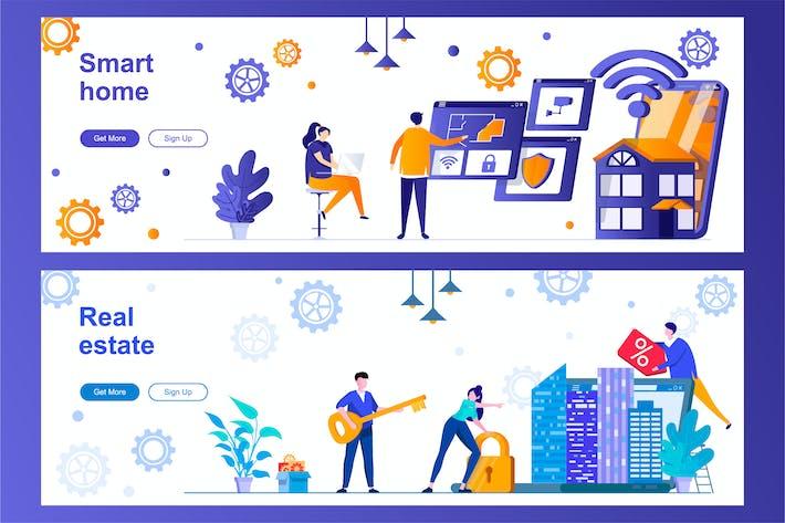 Thumbnail for Bannières Web Smart Home et Immobilier