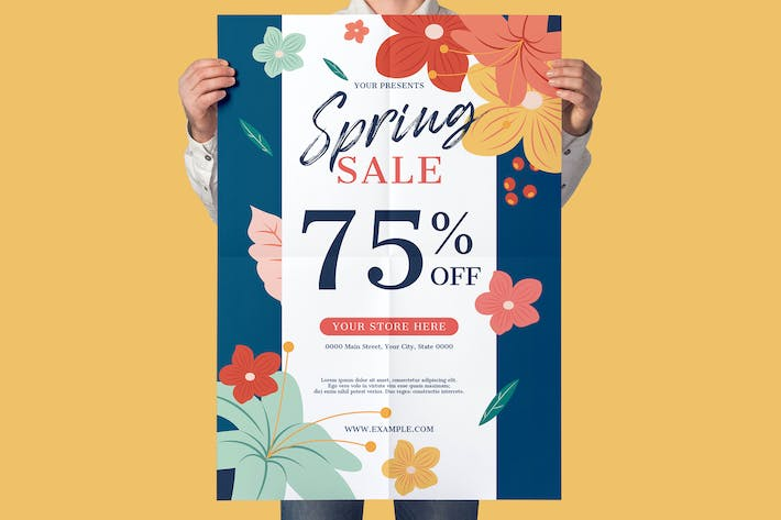 Spring Sale Flyer Promotion