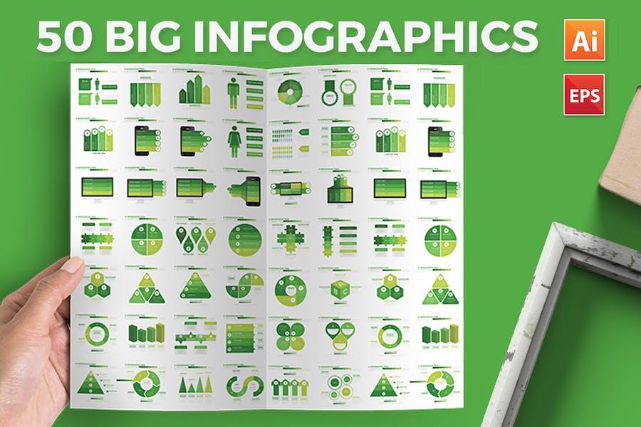 Green Infographics Design