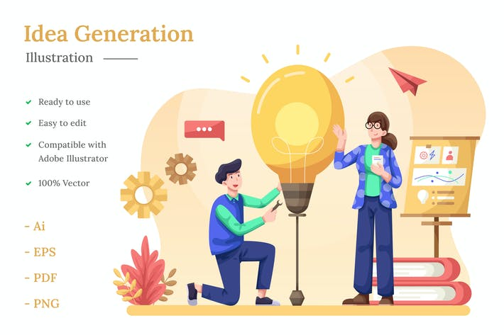 Idea Generation Illustration
