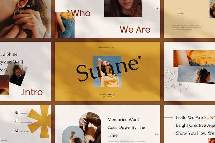 Thumbnail for Sunne - Creative Google Slides Template