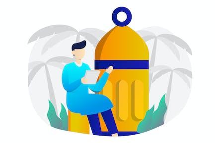 Eid Al Fitr Flat Illustration