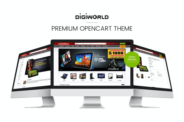 Thumbnail for Digital World OpenCart Thème Premium & Responsive