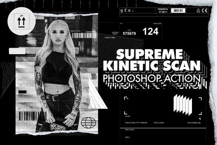 Supreme Kinetic Scan Photoshop Action