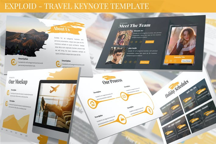 Thumbnail for Exploid - Travel Keynote Template