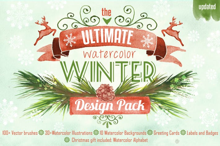 Thumbnail for Winter Design Aquarell Pack