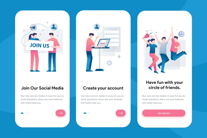 Thumbnail for Social Media Onboarding Illustration