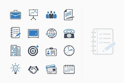 Íconos de Negocios y oficina - Serie azul