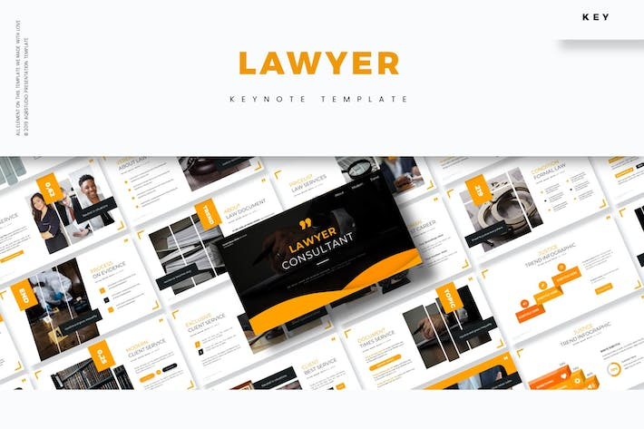 Thumbnail for Lawyer - Keynote Template