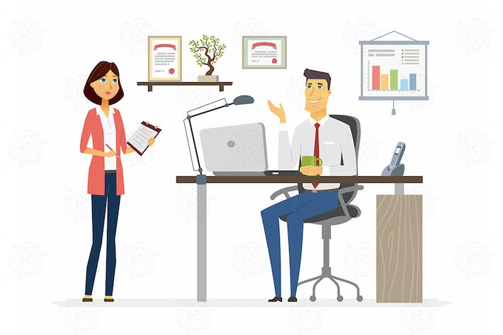Thumbnail for Office Scene - vector illustration