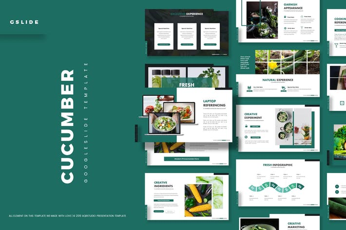 Cover Image For Cucumber - Google Slide Template