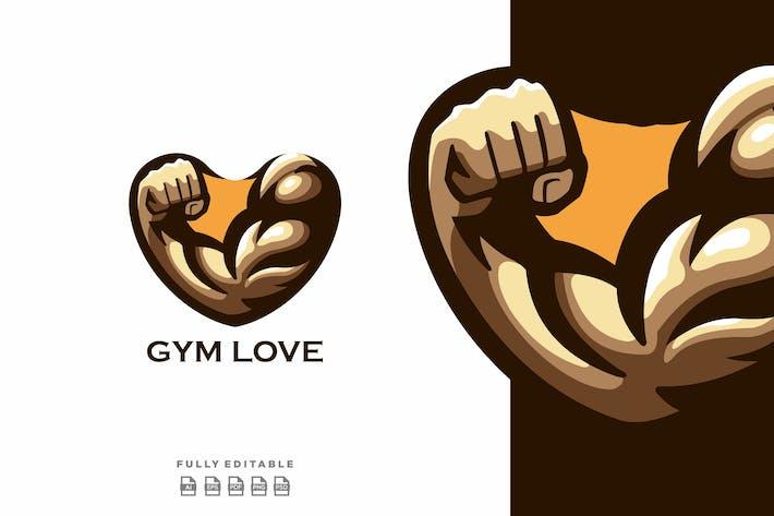 Gym Love Logo Template