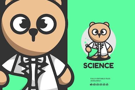 Teddy Bear Cartoon Character Logo
