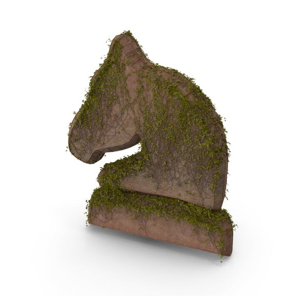 Stone With Ivy Chess Knight Symbol