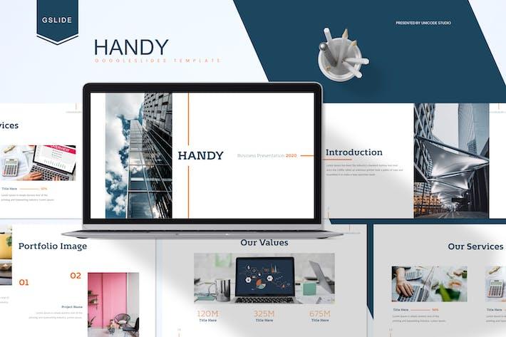 Thumbnail for Handy - Бизнес Google Слайды Шаблон