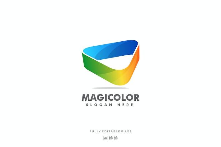 Triangle Magic Colorful Logo
