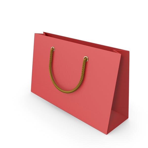 Красная упаковка мешок с золотыми ручками