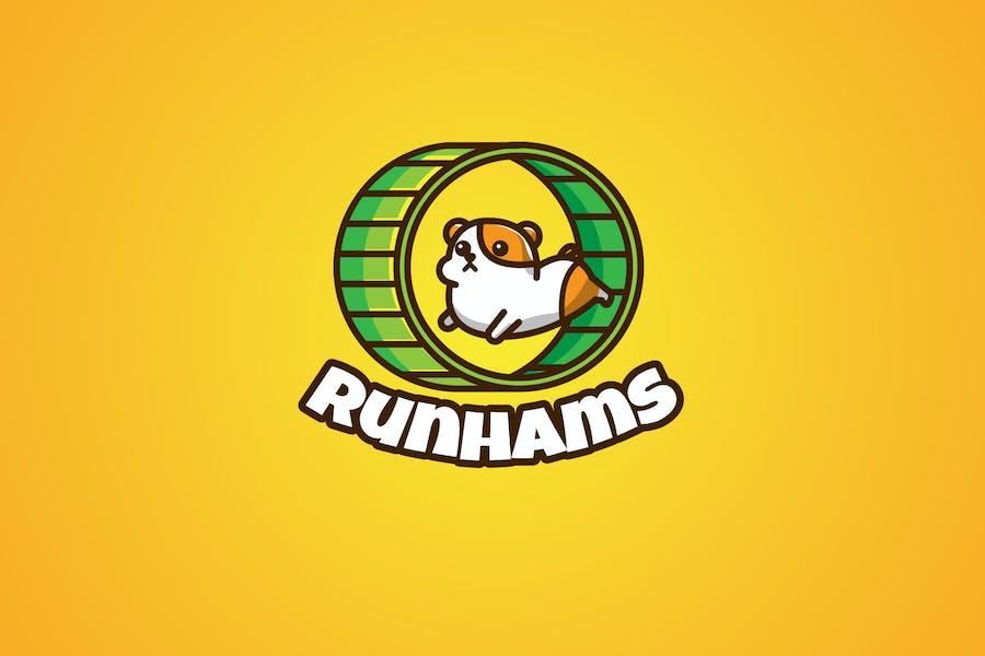 hamster running - Mascot & Esport Logo
