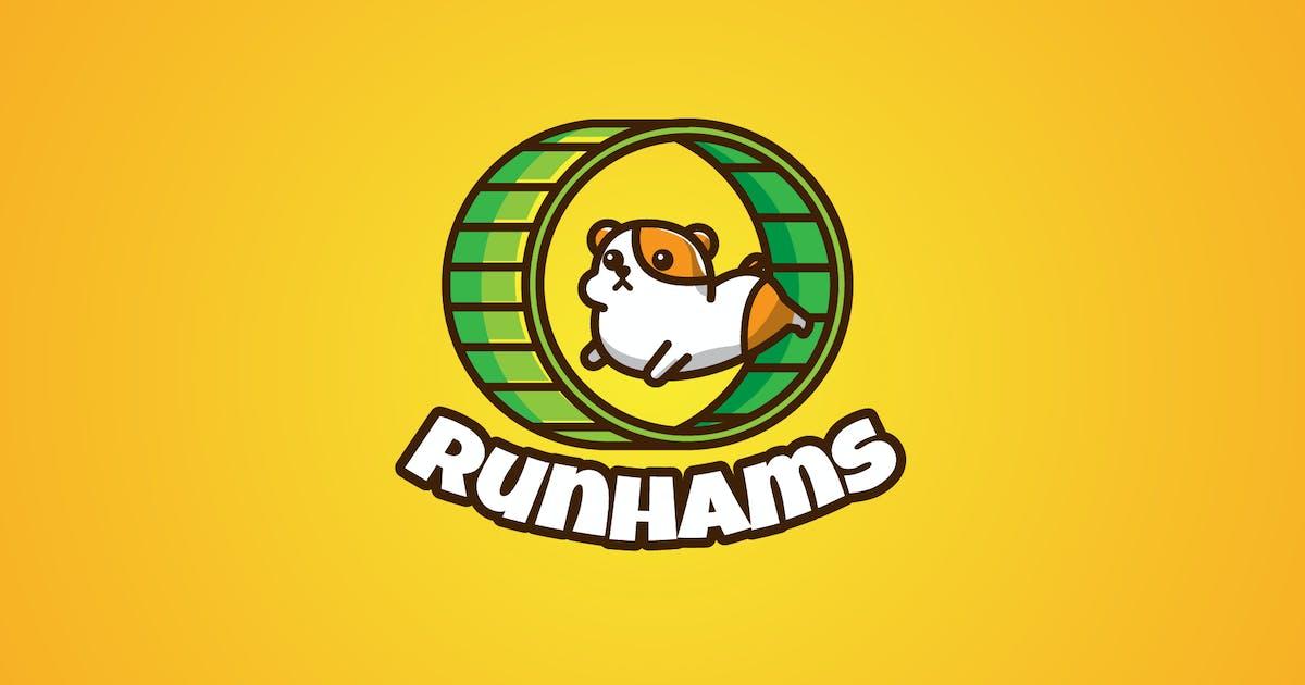 Download hamster running - Mascot & Esport Logo by aqrstudio