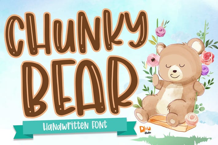 Thumbnail for Chunky Bear - Handwritten Font