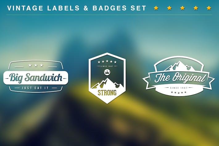 Cover Image For 20 Vintage Labels & Badges