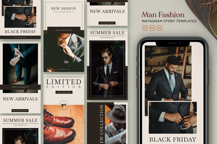 Thumbnail for Instagram Story Template V.21 Man Fashion