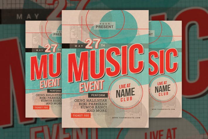 Thumbnail for Music Event Vintage Style