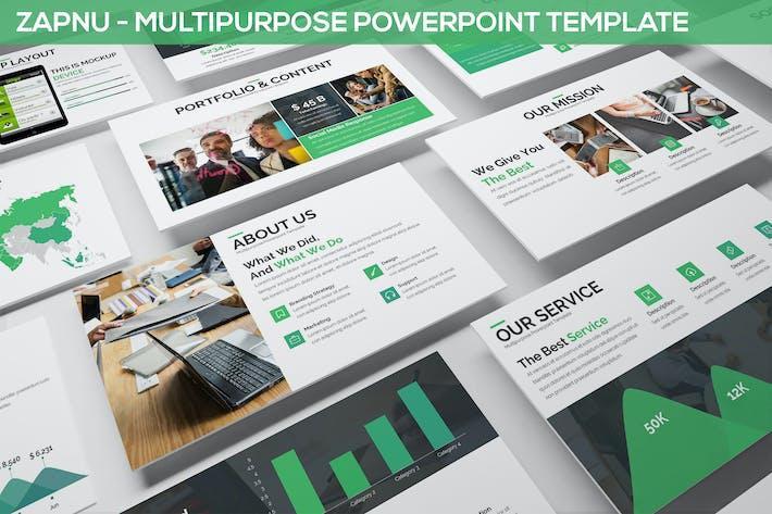 Thumbnail for Zapnu - Multipurpose Powerpoint Template