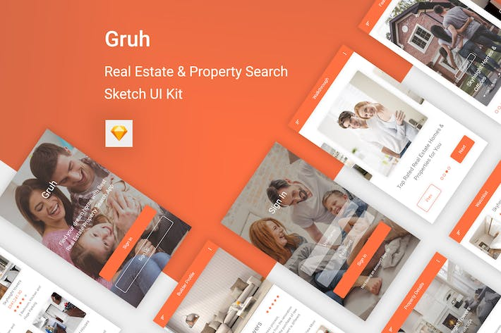 Cover Image For Gruh - Real Estate & Property Search Sketch App