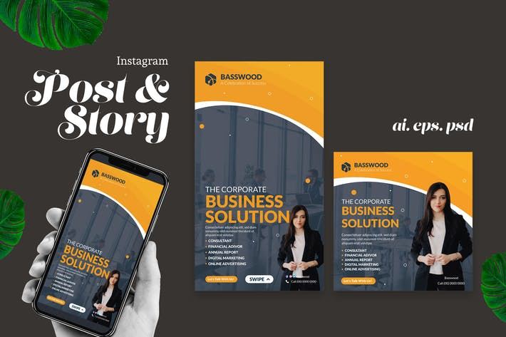 Thumbnail for Business Solution Instagram Post Story