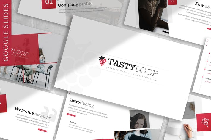 Thumbnail for Tastyloop - Plantilla de diapositivas de Google para empresas
