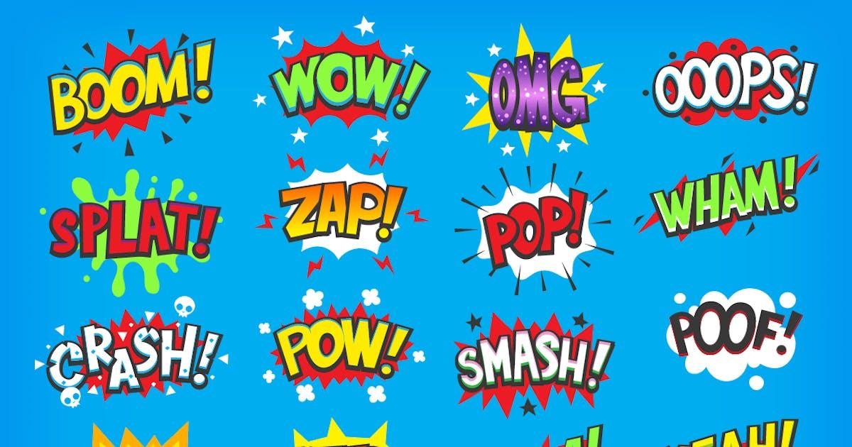 Download Onomatapoeia. Comic speech bubbles by moonery