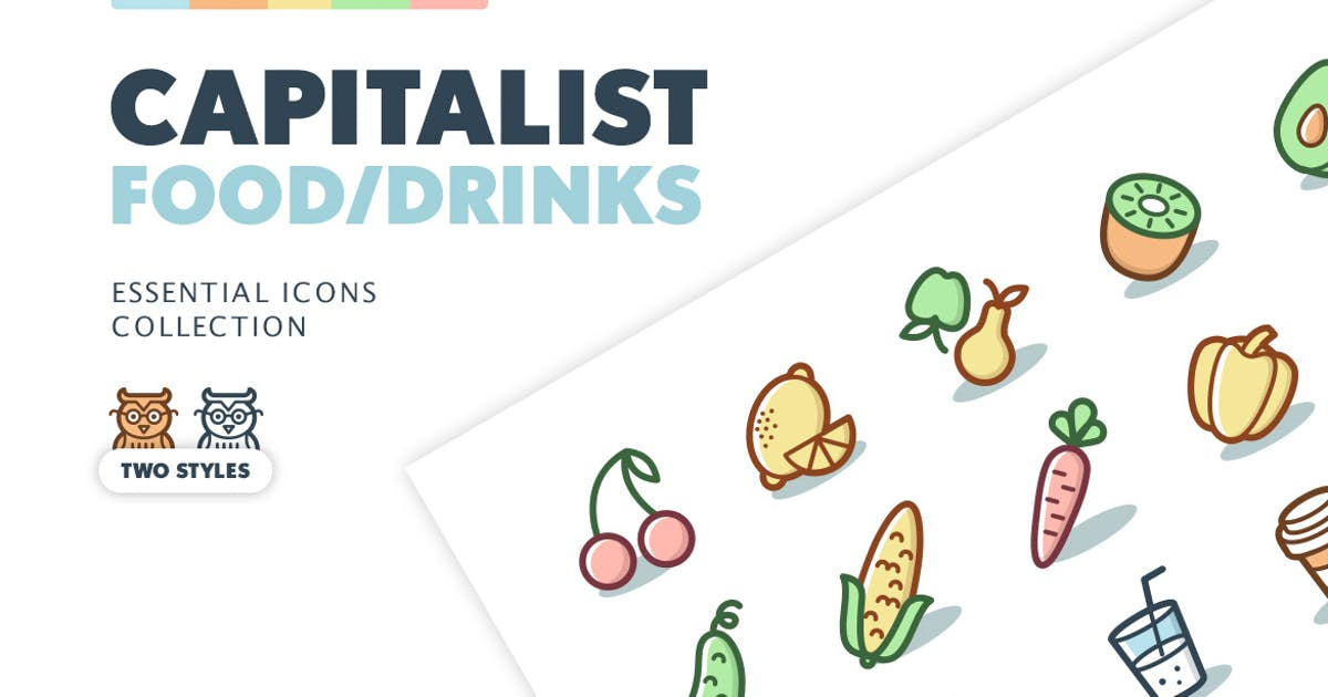 Download Capitalist Icons: Food and Drinks by pixelbuddha_graphic
