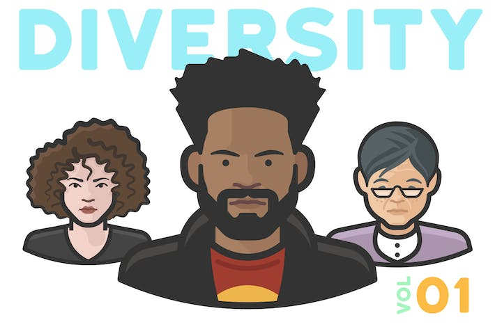 Thumbnail for Diversity Avatars v2 - Volume 01