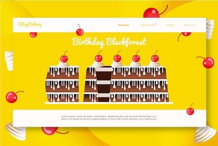 Birthday Cake - Banner & Landing Page