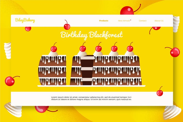 Thumbnail for Birthday Cake - Banner & Landing Page