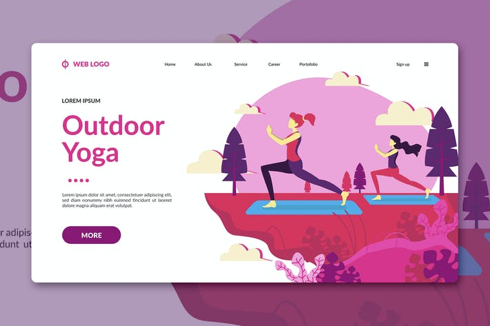 Thumbnail for Yoga Landing Page Template
