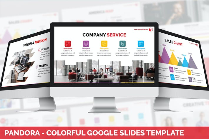 Pandora - Colorful Google Slides Template