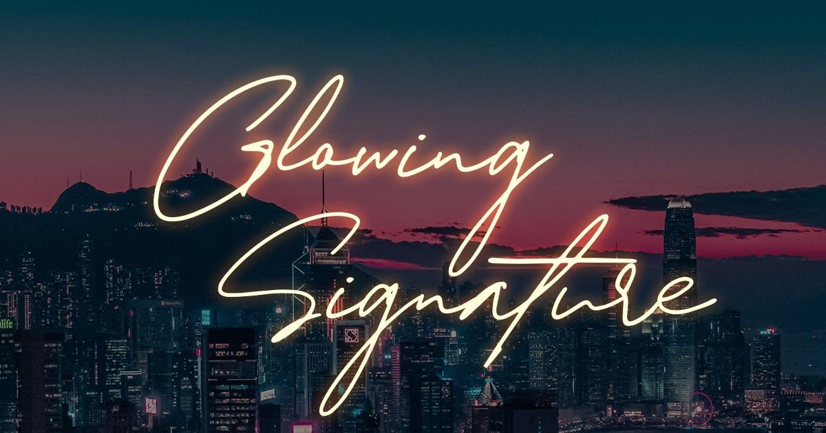 Download Glowing Signature by Scratchdesignbali