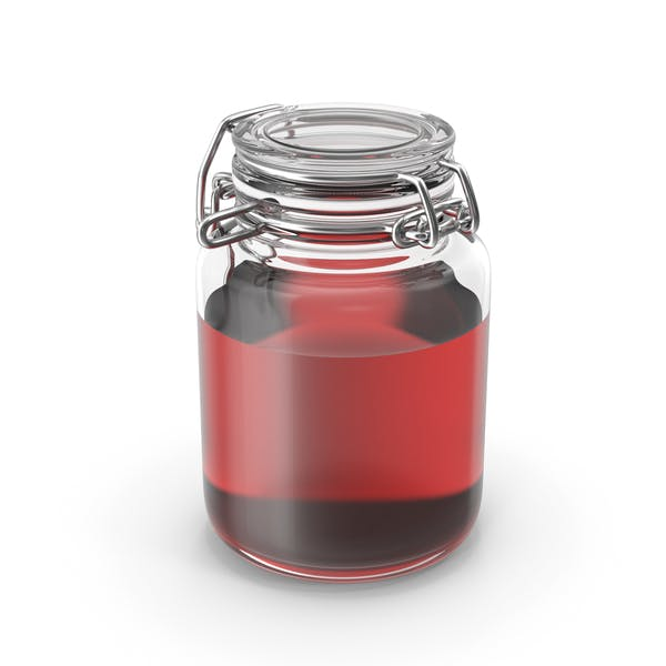 Thumbnail for Glass Jar with Red Liquid