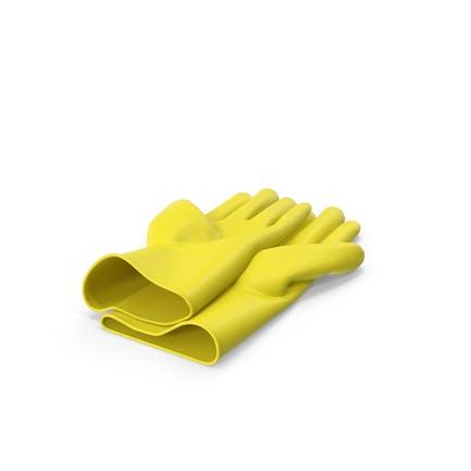 Gelbe Haushalts-Handschuhe